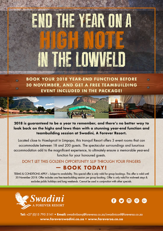 End The Year On A High Note In The Lowveld