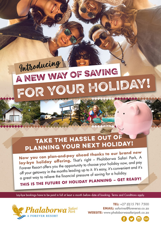Plan-And-Pay ahead with our lay-bye holiday offering