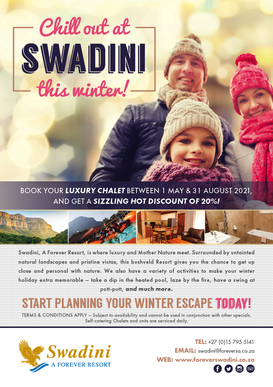 Chill Out At Swadini This Winter!