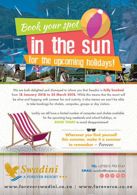 Book your spot in the sun for the upcoming holidays!