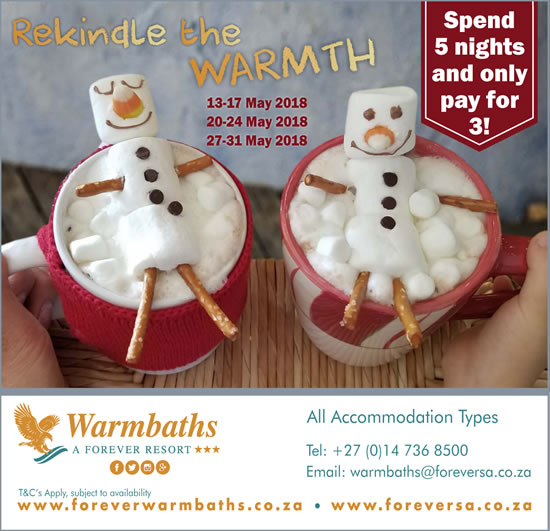 Rekindle The Warmth at Warmbaths This Winter!