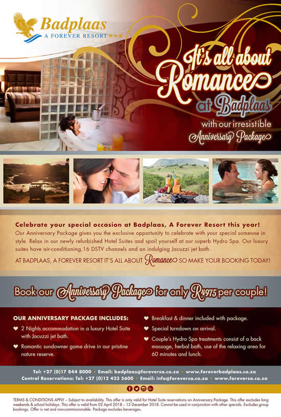 It's All About Romance at Badplaas!